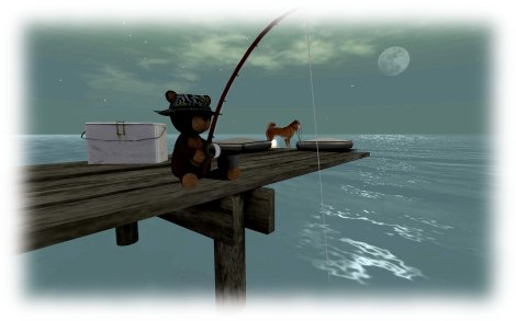 teddybear fishing
